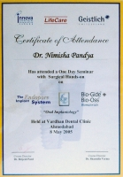 Oral Implantology Certificate