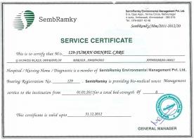 SemBranky Service Certificate