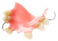studio shot of a denture, (false teeth)